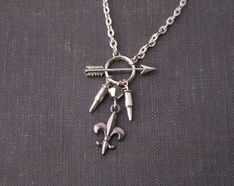 SALE Allison Argent Necklace Teen Wolf Inspired Jewelry Argent Crest Silver Arrow Charm Argent Family Werewolf Hunter Teen Wolf Pendant Gift
