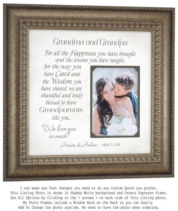 Grandmother Gift Personalized Wedding Grandparents Gift