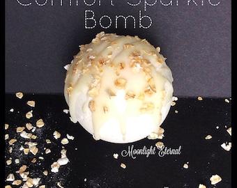 Oatmeal Milk and Honey Bath Bomb - Oatmeal Bath Bomb - Comfort Luxe Sparkle Bomb - Fizzy Bath Bomb - Handmade Bath Bomb - Artisan Bath Bomb