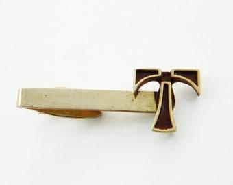 """Personalized Letter """"T"""" Tie Clip- TT286 - Vintage Tie Clip - Monogram Tie Clip"""