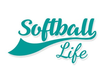 Softball Life | Softball | Softball Decal | Softball Vinyl Decal | Vinyl Decal | Decal | Softball Tumbler Decal | Love Softball | Yeti Decal