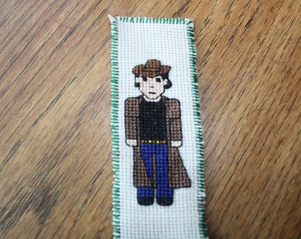 Detective / western bookmark cross stitch