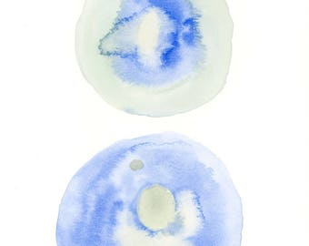 Round and Round 5 Abstract Watercolor Painting