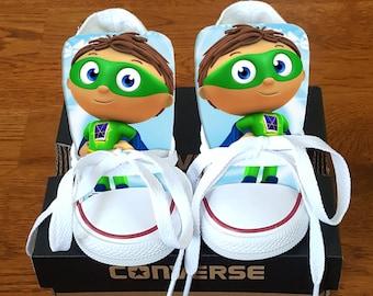Super Why Custom Converse - Super Why - Custom Chucks