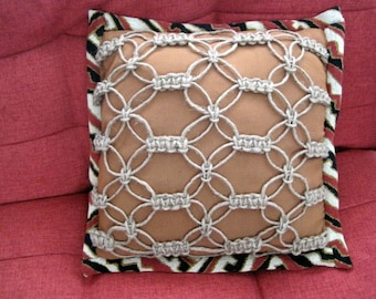 Macrame Hand Knotted Pillow