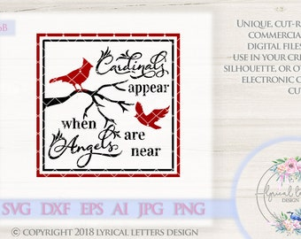 Cardinals Appear When Angels Are Near Solid LL156 B - SVG DXF Ai Eps Png Jpg Digital file for Commercial and Personal Use