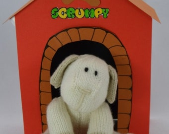 Scrumpy Dog Knitting Pattern, Dog Knitting Pattern, Toy Dog Knit Pattern, Pet Knitting Pattern, Pet Knit, Man's Best Friend Knit