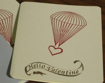 Hello Valentine Parachute Heart Valentine's Day 12-Pack