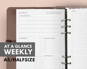 at a glance weekly planner