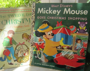 Two Christmas Classic Little Golden Books Vintage 1960's