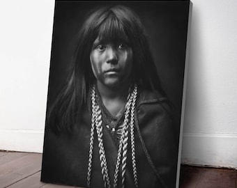Native American Indian Canvas Print, Mohave Indian ca. 1903, Indigenous Americans, American Indian, indigenous people, NA41C