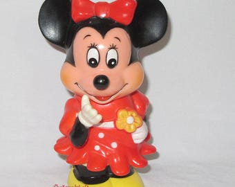 Vintage Disney Minnie Mouse Piggy Bank Coin Bank Collectible Gift