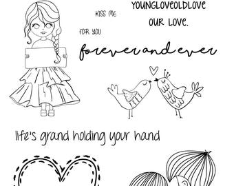 Our Love - Photopolymer Clear Stamps - Anniversary - Valentine's Day