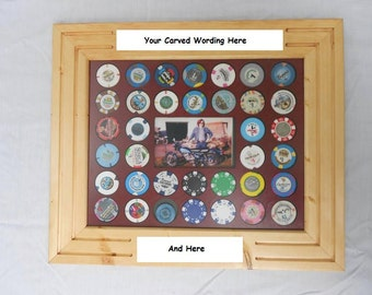 Customized Poker Chip Display Frame Fits Both Casino And