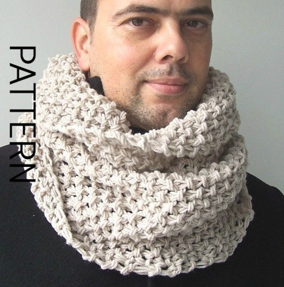 Chunky Cowl Scarf Knitting Pattern Digital Knitting Pattern