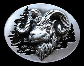 Big Horn Sheep Ram Belt Buckle