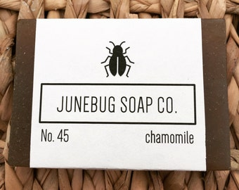 3 PACK: Chamomile Bar Soap - Chamomile Soap, All Natural Soap, Sensitive Skin Soap, Vegan Soap, Handmade Soap, Bar Soap, Homemade Soap