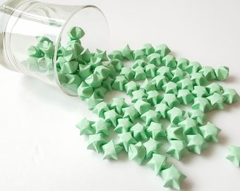 Pastel Green Origami Lucky Stars ~ 100 Count ~ Origami Wishing Stars ~ Origami Table Decoration ~ Baby Shower ~ Wedding Decor ~ Party Favor