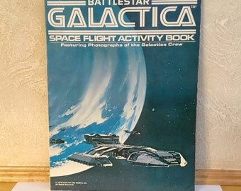 1978 BATTLESTAR GALACTICA Space Flight Activity Book