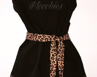 black and cheetah personalized apron