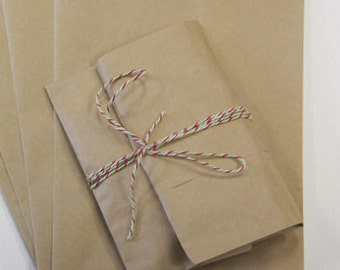 200 Brown Kraft Bags, 5 x 7.5 inch. Blank  - Good for Candy Buffets, Merchandise, Gift Bags