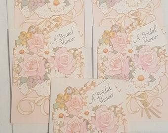 Vintage 1970s Hallmark Bridal Shower Invitations