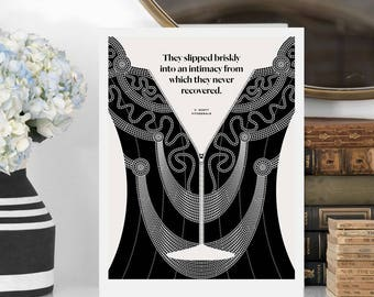 F SCOTT FITZGERALD Literary Art Prints,  Quote Minimalist Poster, Large Wall Art Print, Typography Literary Gifts, Gift for Her