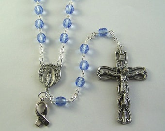 Periwinkle Awareness Rosary