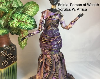 Eniola, Sherika Queen Statue, Welcome to Wakanda Collection, size 4, 13 inches