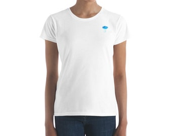Women's Short Sleeve Rain Cloud T-shirt