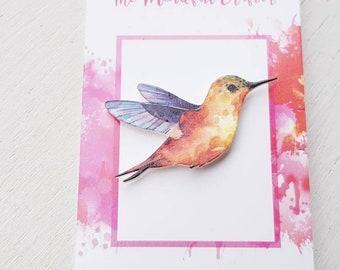 Humming bird brooch humming bird pin bird brooch bird pin  humming bird jewellery wild bird pin humming Bird ornithology jewelry humming