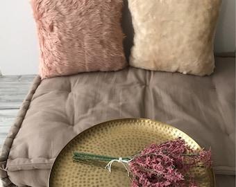 Faux Fur Throw Pillows