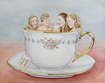 DAILY DETOX - Watercolor Giclee Reproduction