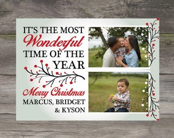 DIGITAL Most Wonderful Time of the Year Christmas Card