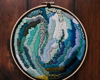 embroidery art, modern embroidery, embroidery hoop art