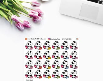 Amanda The Panda ~ TRAVEL / On VACATION ~ Planner Stickers CAM PaNDA 026