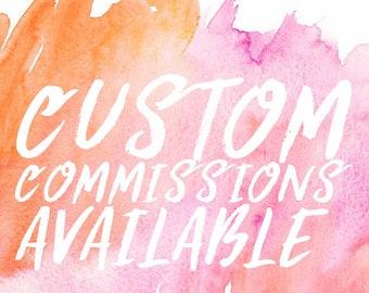 Custom artwork - pen & ink / watercolour