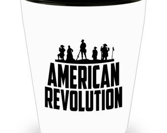 American Revolution Shot Glass - SET OF 3 • 1.5 oz Ceramic Shot Glass - Made In The USA