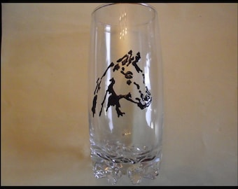 Painted glass - horse head