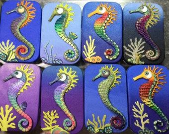 Polymer Clay Seahorse tin