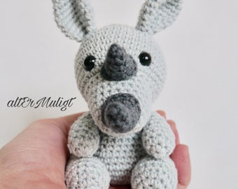 PDF Pattern altErMuligt's Baby Rhino approximately 11 cm