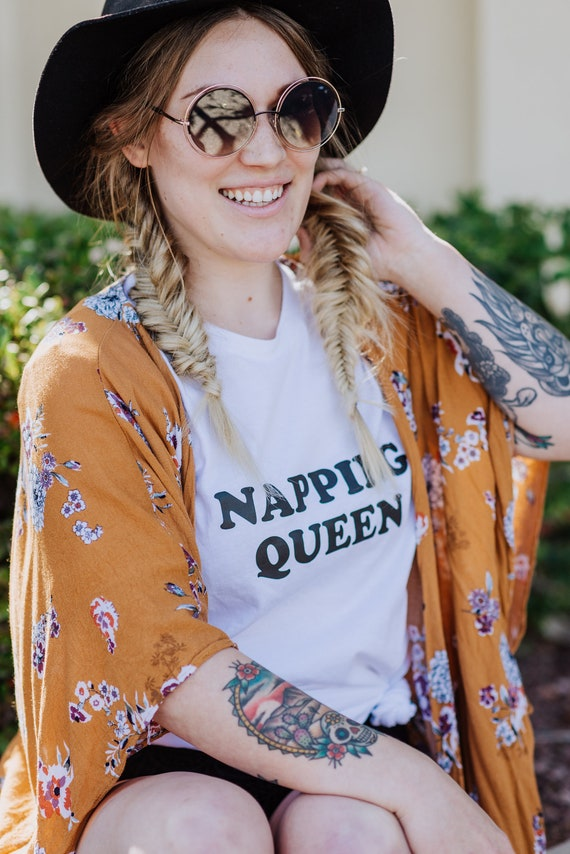 NAPPING QUEEN Tee, Nap Queen Tshirt, Napping Queen Tshirt, Nap Shirt, Napping Shirt, Napping Queen Tee