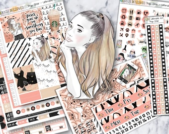 ULTIMATE Weekly Kit / Pop Star / Planner Stickers / Fits Erin Condren Vertical & MAMBI / Hand Drawn / Watercolor