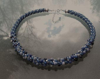 Sodalite Kumihimo Necklace