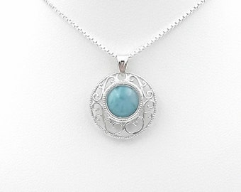 Sterling Silver Larimar Pendant