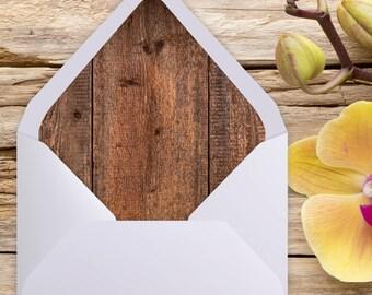 A7 Envelope Liner, Euro Flap, Rustic Wedding, Envelope liner, printable envelope, printable liner, liner template, diy printable, liners