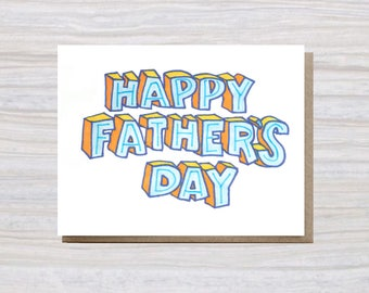 HAPPY FATHER'S DAY | A2 Size | Greeting Card | Father's Day Card