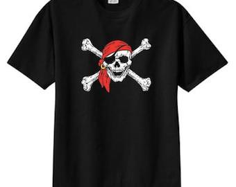 Skull and Crossbones Skull Pirate New T Shirt S M L XL 2X 3X 4X 5X