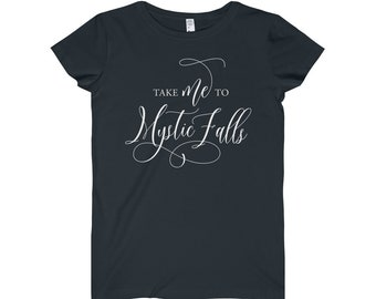 Take Me To Mystic Falls | Vampire Diaries | Elana Gilbert | Stefan Salvatore | Damon Salvatore | Gift for her | Women's Fine Jersey Tee