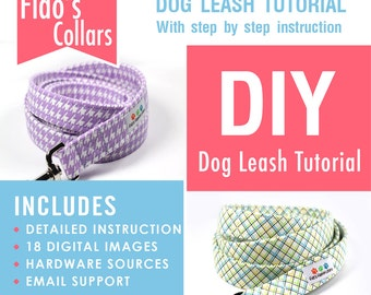 Dog Leash Tutorial - How to make a dog leash - INSTANT Download - PDF only